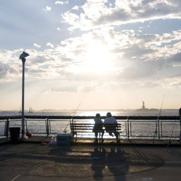 This small Red Hook peninsula, which overlooks the Statue of Liberty and Governors Island, has one very big element working in its favor: It's among the best spots in the city to see the sun go down.