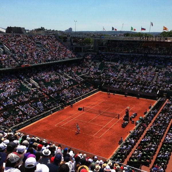 Photo taken at Stade Roland Garros by Lionel C. on 6/7/2013