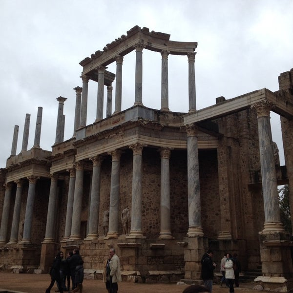 Photo taken at Anfiteatro Romano by Jaime S. on 3/1/2014