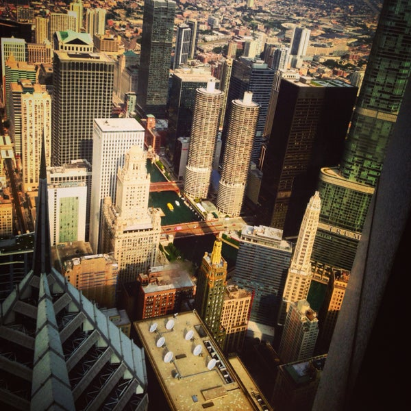 Head to the top for a one-of-a-kind view of Chicago.