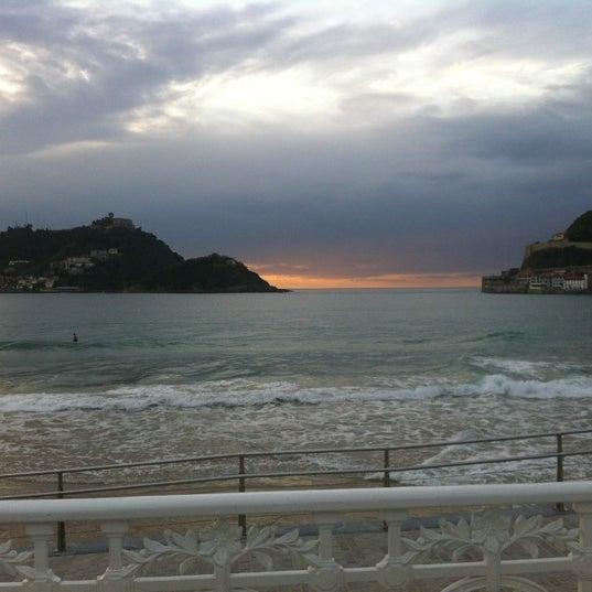 Photo taken at Paseo de La Concha by Olga P. on 10/17/2012