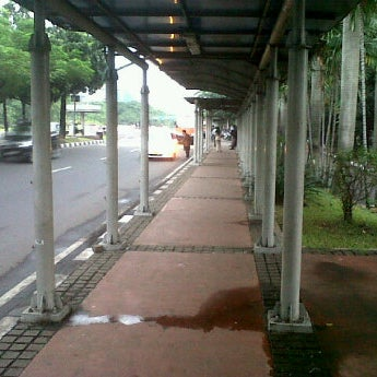 Photo taken at Halte Bus Dukuh Atas by okkylh n. on 5/6/2012