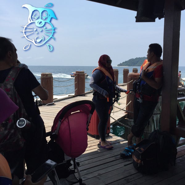 Photo taken at Manukan Island Jetty by reeza 2. on 10/3/2015
