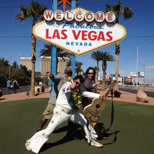 Photo taken at Welcome To Fabulous Las Vegas Sign by Hector G. on 3/4/2014