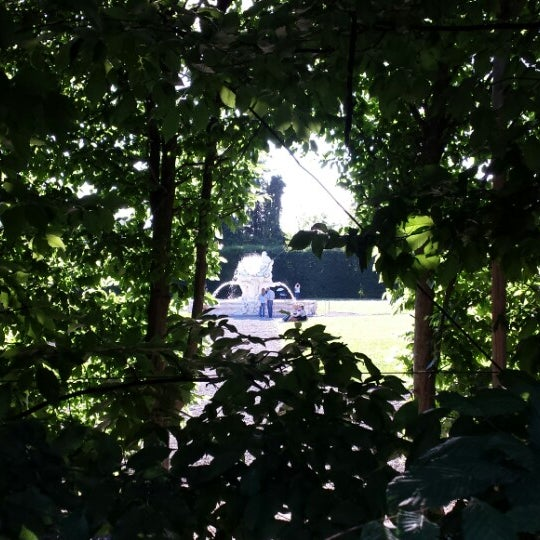Photo taken at Villa Visconti Borromeo Litta by Lorenzo P. on 5/18/2014