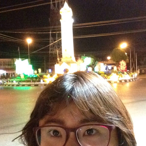 Photo taken at Maha Sarakham Clock Tower by Ar L. on 8/16/2015