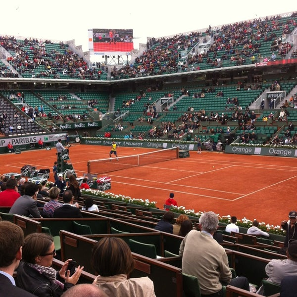 Photo taken at Stade Roland Garros by LooL on 5/29/2013