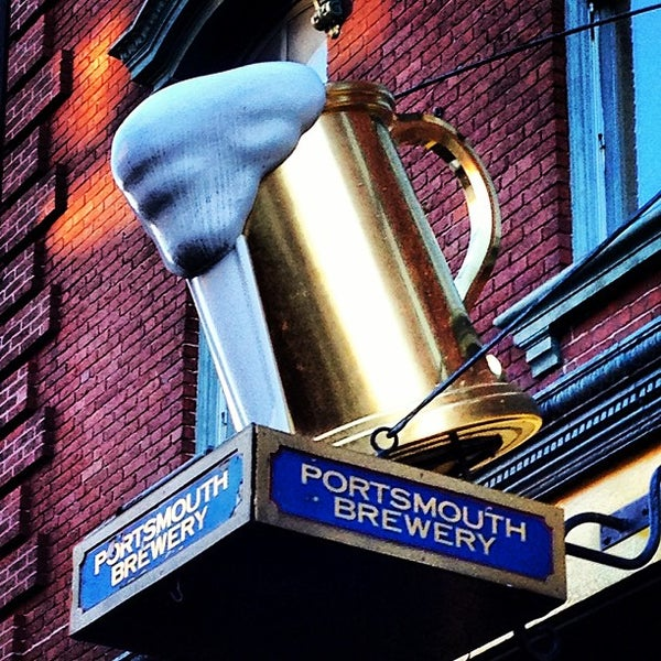 Photo taken at Portsmouth Brewery by Brett O. on 12/15/2012