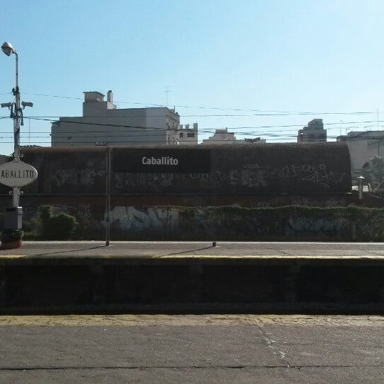 Photo taken at Estación Caballito [Línea Sarmiento] by Verónica B. on 5/25/2014