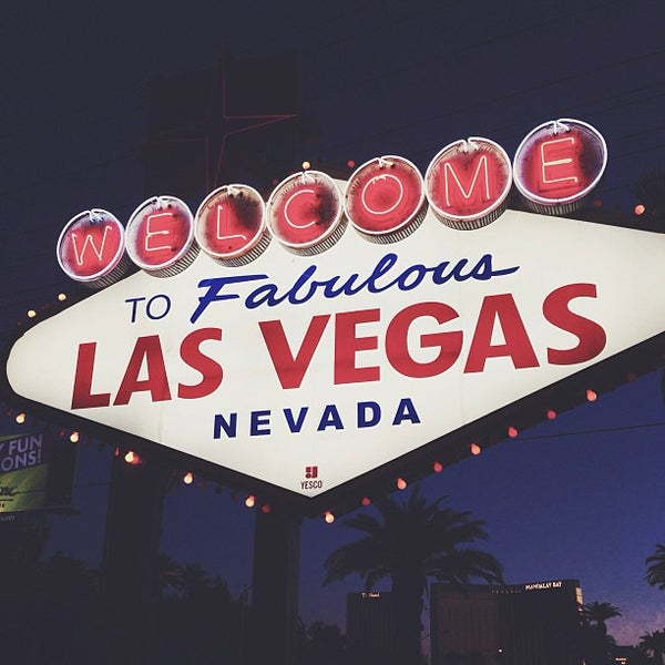 Photo taken at Welcome To Fabulous Las Vegas Sign by Steph B. on 6/16/2013