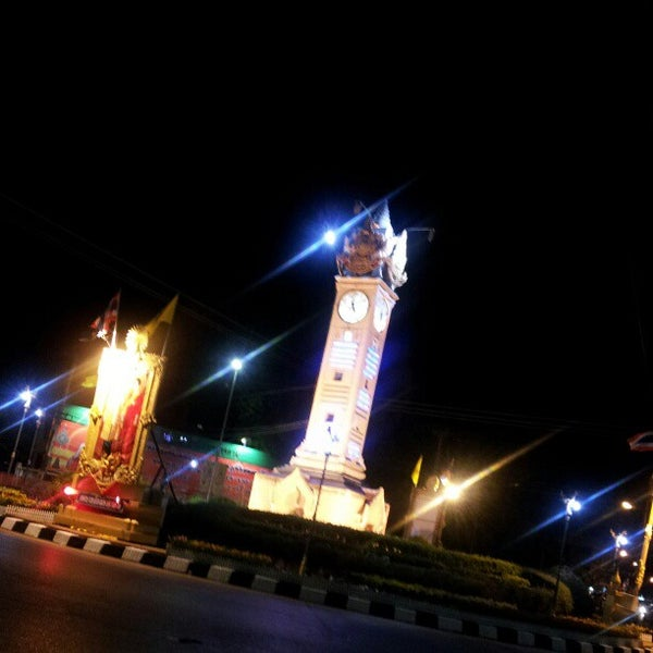 Photo taken at Maha Sarakham Clock Tower by BiZNut C. on 12/3/2012