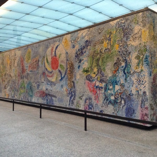 "Photo taken at Chagall Mosaic, ""The Four Seasons"" by BeAwinna C. on 11/8/2013"