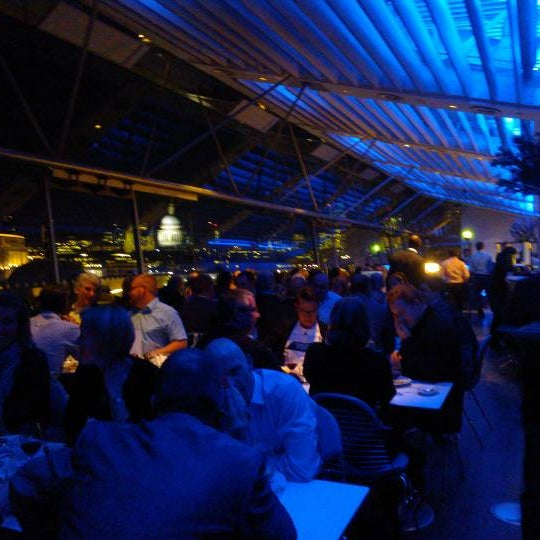 Photo taken at OXO Tower Brasserie by Svein I. on 11/28/2012