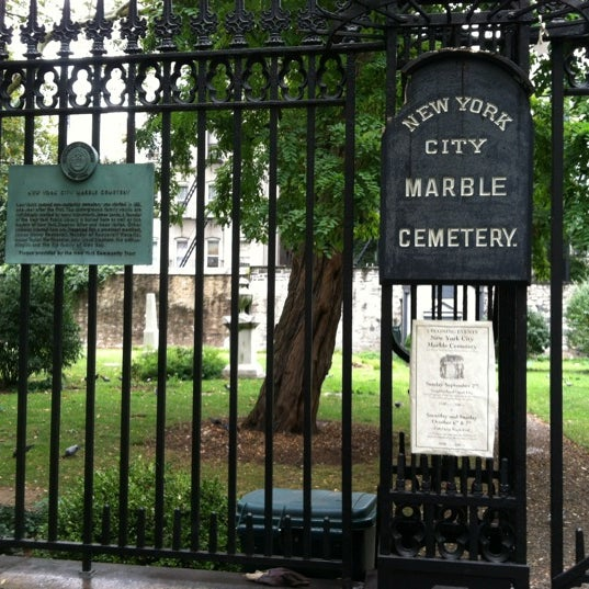 Photo taken at New York City Marble Cemetery by Scott M. on 9/3/2012