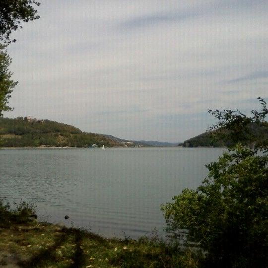 Photo taken at Lago di Suviana by Cristina on 8/12/2012