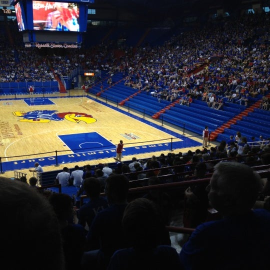 Photo taken at Allen Fieldhouse by Stephen C. on 4/1/2012