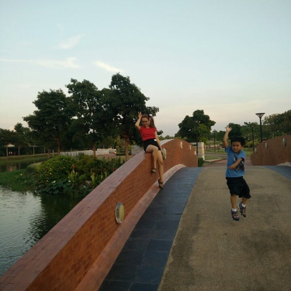 Photo taken at สวนวนธรรม by Ace N. on 10/21/2014