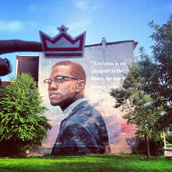 Photos at malcolm x mural north philadelphia west for Malcolm x mural