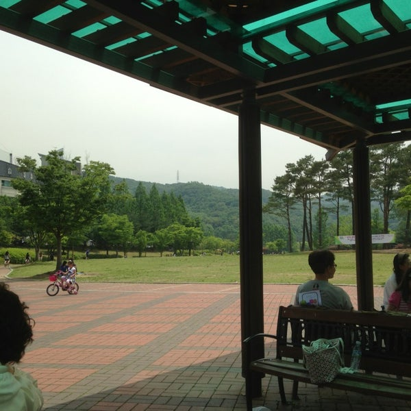 Photo taken at Yuldong Park by zunee on 6/1/2013