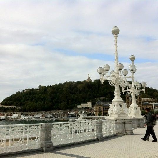 Photo taken at Paseo de La Concha by Mark W. on 10/12/2012