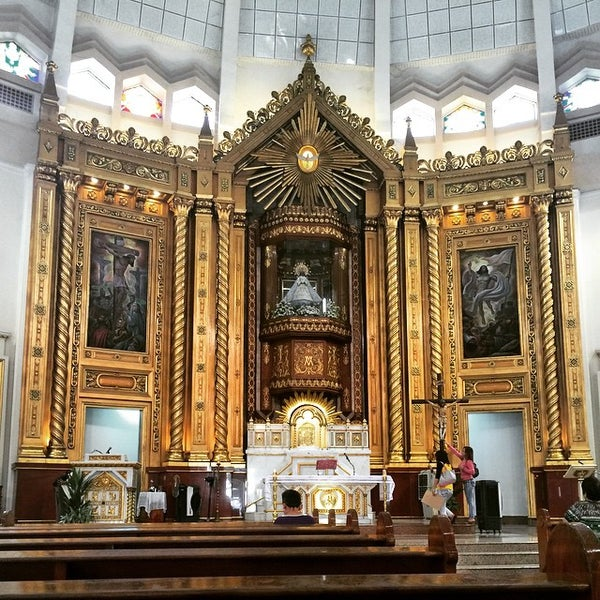 Photo taken at National Shrine of Our Lady of Peace and Good Voyage (Antipolo Cathedral) by Nica C. on 3/20/2015