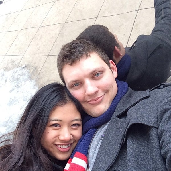 Photo taken at Cloud Gate by Eli S. on 3/9/2014