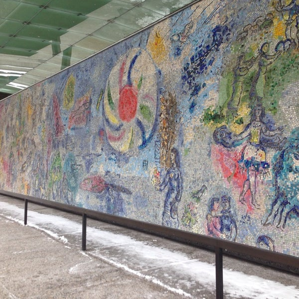 "Photo taken at Chagall Mosaic, ""The Four Seasons"" by Martina C. on 2/8/2014"