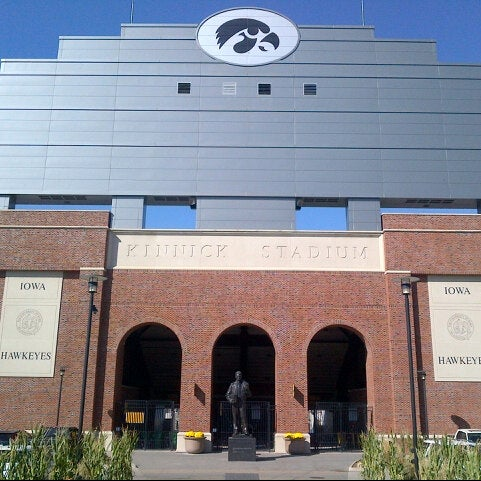 Photo taken at Kinnick Stadium by Dick P. on 9/25/2012