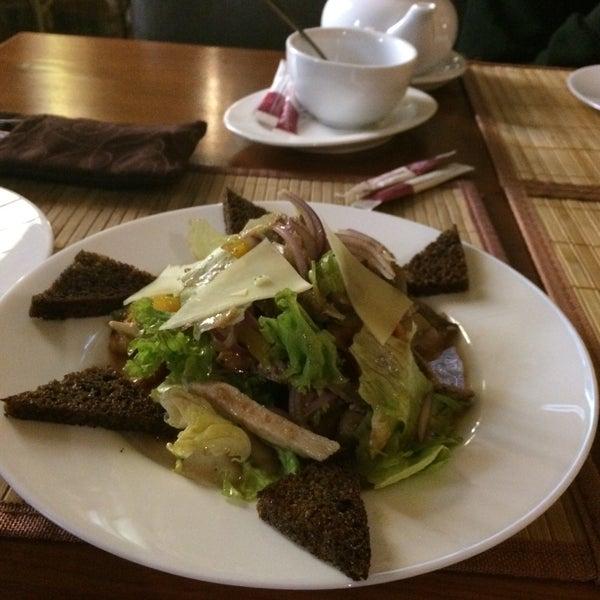 Салат из запеченных овощей с телятиной и курицей . Супер