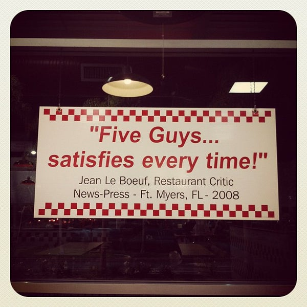 Photo taken at Five Guys by Emil B. on 9/16/2012