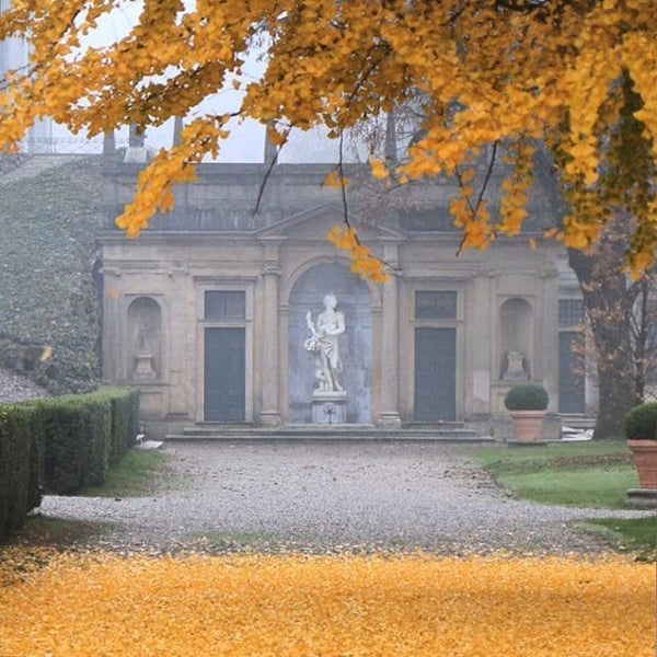 Photo taken at Villa Visconti Borromeo Litta by Massimo C. on 11/15/2015