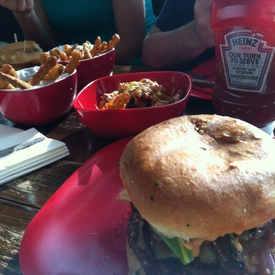 Photo taken at G Burger by Greg D. on 5/5/2012