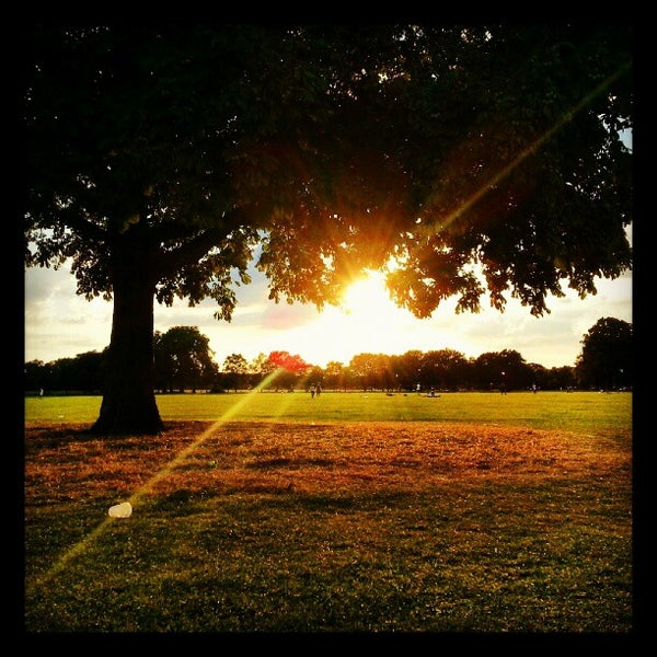 Photo taken at Clapham Common by James S. on 8/19/2012