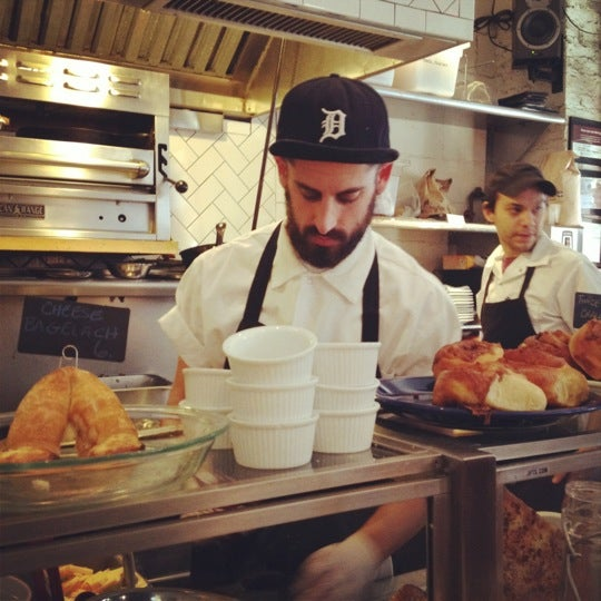 Photo taken at Mile End Delicatessen by Rachel S. on 1/7/2012