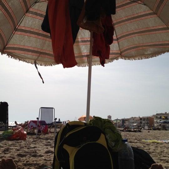 Photo taken at Platja de Calafell by Soraya C. on 8/20/2012