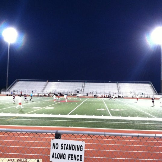 Football Stadium Night Lights: Del Valle Football Stadium