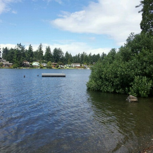 Photo taken at Steel Lake Park by Monica C. on 7/3/2012