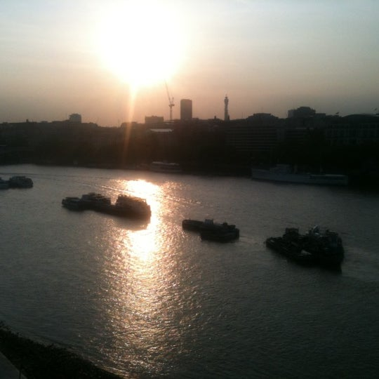 Photo taken at OXO Tower Brasserie by Carla S. on 6/2/2011