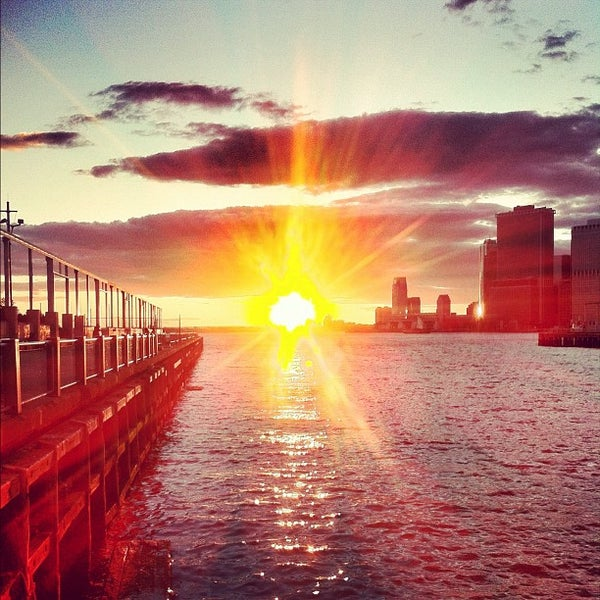 Photo taken at Brooklyn Bridge Park - Pier 6 by Chris K. on 6/27/2012