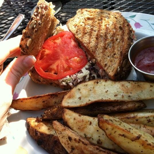 Photo taken at Sugar Plum Vegan Cafe by Mandy B. on 1/29/2012