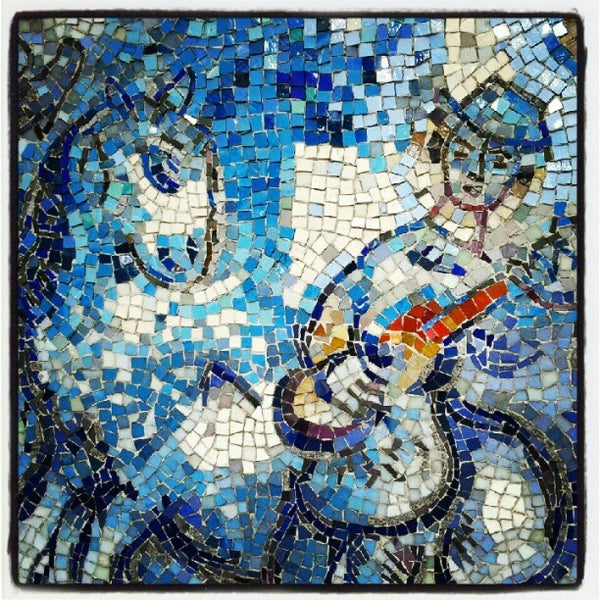 """Photo taken at Chagall Mosaic, """"The Four Seasons"""" by Doug M. on 7/5/2012"""