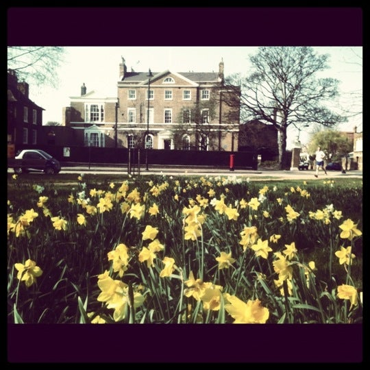 Photo taken at Clapham Common by Robbie G. on 3/24/2012