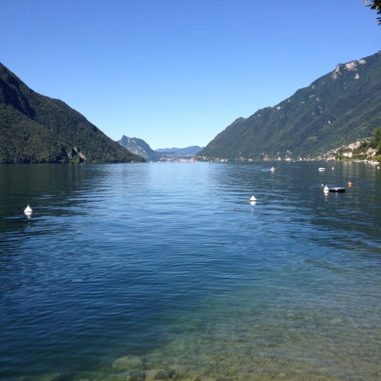 Photo taken at Lago di Lugano by Gerrit S. on 7/18/2012