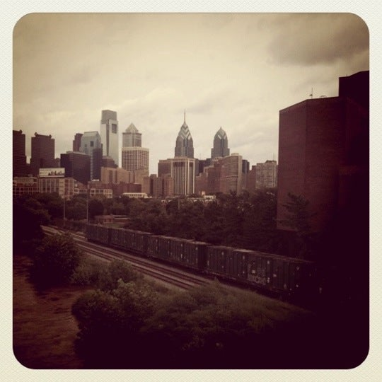 Photo taken at South Street Bridge by Katie M. on 8/28/2011