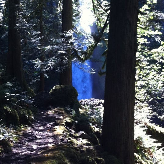 Photo taken at Wahclella Falls Trailhead by Louis H. on 9/20/2011