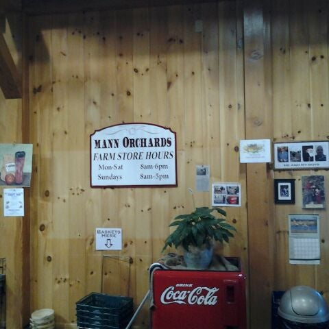 Photo taken at Mann Orchards Farm Store & Bakery by Eric W. on 2/26/2012