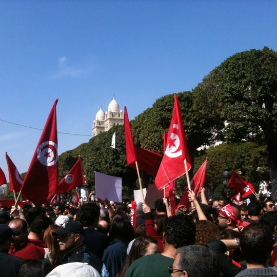 Photo taken at Avenue Habib Bourguiba by Zeineb T. on 3/20/2012