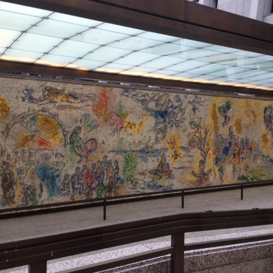 """Photo taken at Chagall Mosaic, """"The Four Seasons"""" by Danielle H. on 7/13/2012"""
