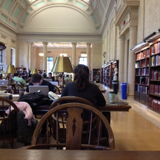 Photo taken at Widener Library by MJ C. on 4/26/2012