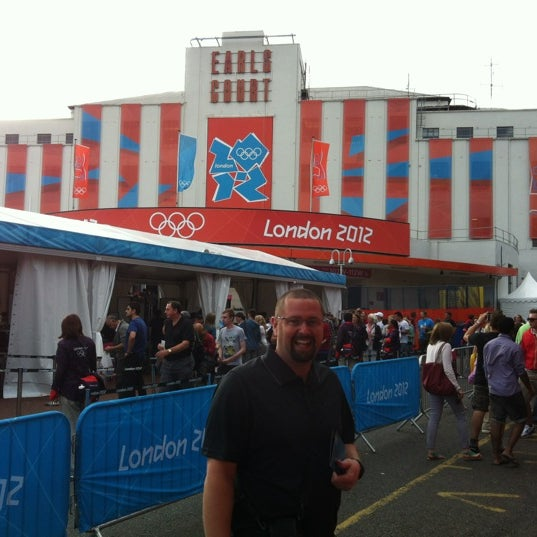 Photo taken at Earls Court Exhibition Centre by Hillary B. on 7/28/2012